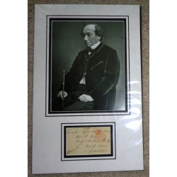 Benjamin Disraeli PM genuine authentic signed autograph display