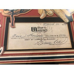 Bruce Lee authentic signed genuine autograph signature cheque check COA