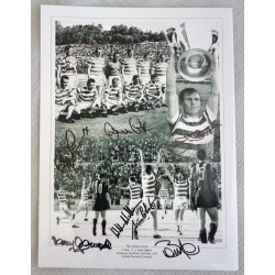 Celtic Lisbon Lions authentic genuine multi signed autograph photo COA