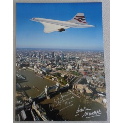Concorde Mike Bannister Adrian Meredith genuine signed photo UACC AFTAL COA 6