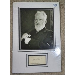 George Bernard Shaw authentic signed autograph signature display