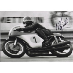 Giacomo Agostini Motor cycling genuine authentic autograph signed photo