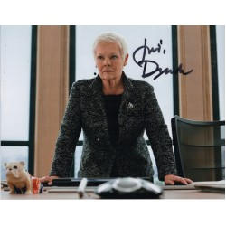 James Bond Judi Dench genuine authentic autograph signed photo