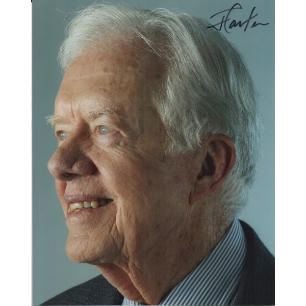 Jimmy Carter genuine authentic autograph signed signature photo.