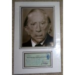 John Paul Getty authentic signed genuine autograph photo display
