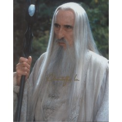 Lord Rings Christopher Lee Saruman genuine authentic autograph signed photo AFTAL
