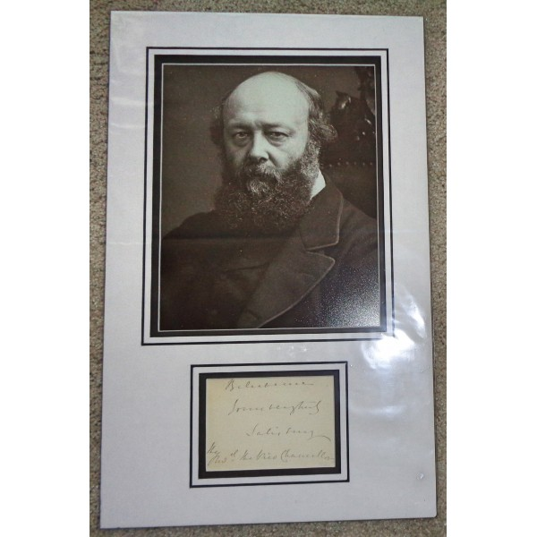 Lord Salisbury PM genuine signed autograph signature display.