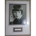 Louise Brooks genuine authentic signed autograph signature display