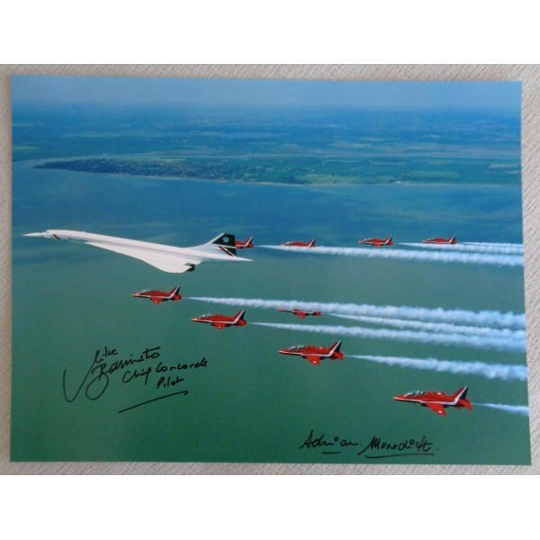 Mike Bannister Adrian Meredith Concorde authentic genuine signed autograph photo 4