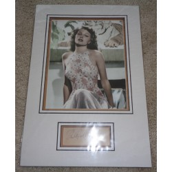 Rita Hayworth genuine authentic autograph signed signature display