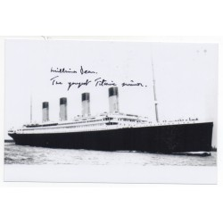 RMS Titanic signed genuine authentic autograph photo by Survivor Millvina Dean 2