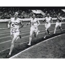 Roger Bannister genuine authentic autograph signed photo.