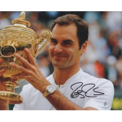 Roger Federer Tennis authentic genuine signed autograph photo COA