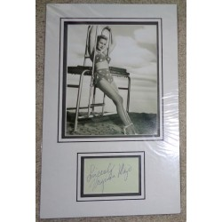 Virginia Mayo genuine authentic signed autograph signature display