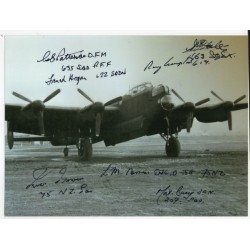 ww2 Lancaster multi veteran 617sqn etc signed signed autograph photo 2