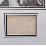 Terry Thomas comedy genuine signed autograph signature display.