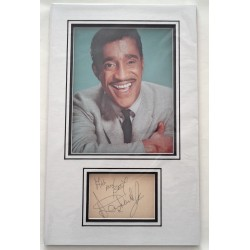 Sammy Davis Jnr genuine authentic signed signature autograph display