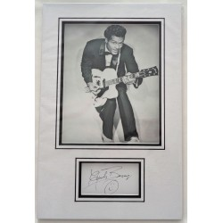 Chuck Berry signed authentic genuine signature autograph display