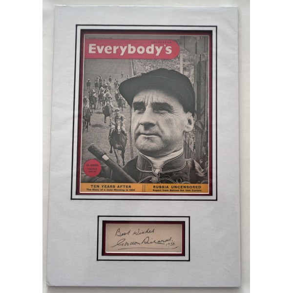 Sir Gordon Richards Horse Racing genuine authentic autograph signature and photo