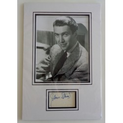 James 'Jimmy' Stewart signed authentic genuine signature photo display