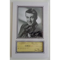Jimmy James Stewart genuine authentic autograph signature cheque display