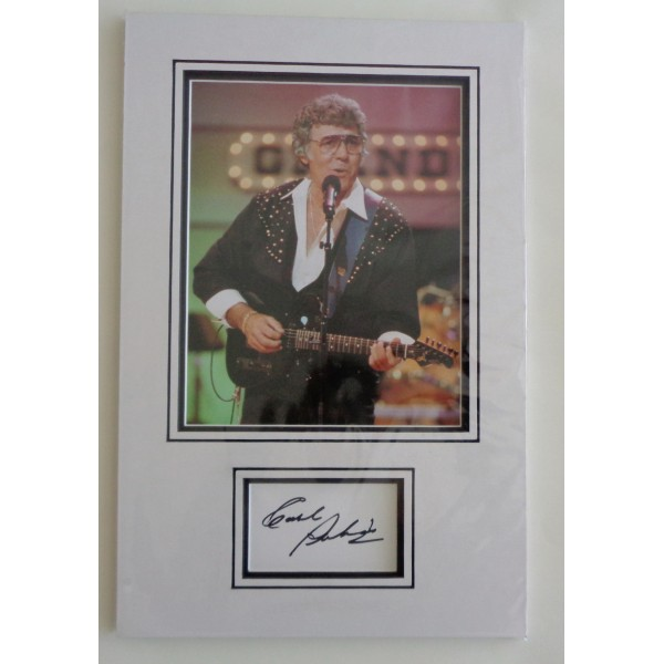 Carl Perkins Blue Suede Shoes signed authentic signature autograph photo display