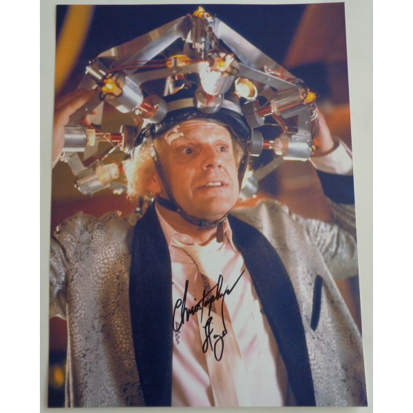 Christopher Lloyd Back to the Future genuine authentic autograph signed photo