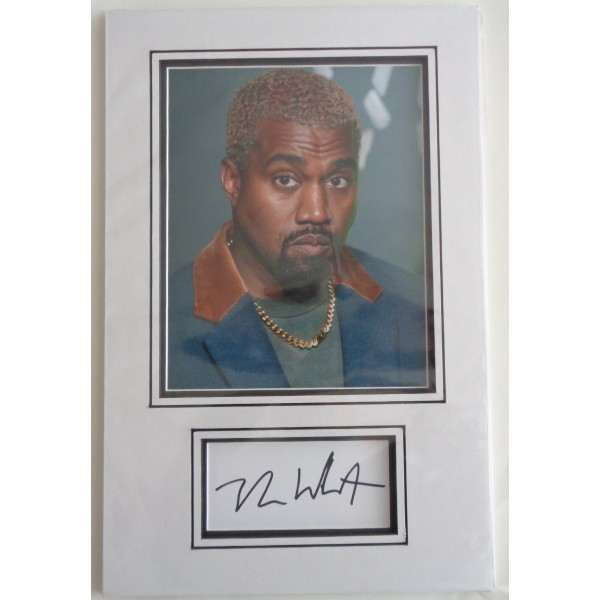 Kanye West music genuine authentic signed autograph display