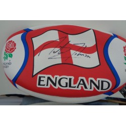 Martin Johnson England Rugby authentic signed genuine signature autograph