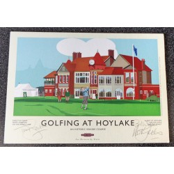 Tony Jacklin Nick Faldo Golf authentic signed genuine signature autograph