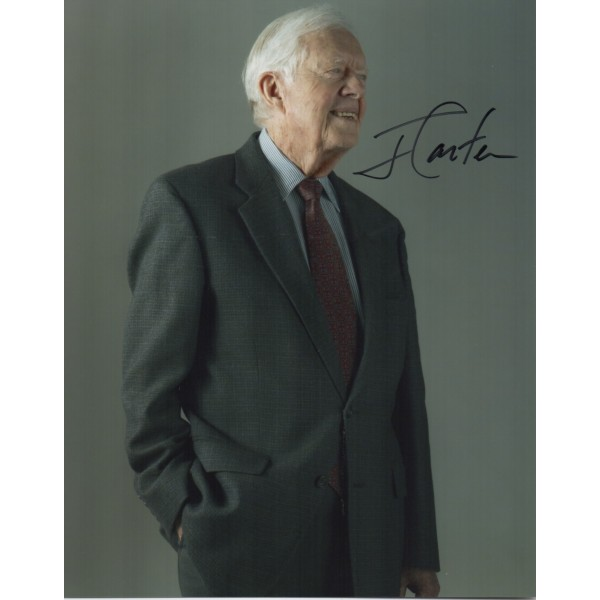 Jimmy Carter US President authentic genuine signed autograph photo COA