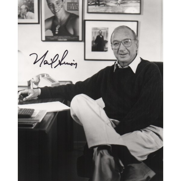 Neil Simon comedy genuine authentic signed autograph photo