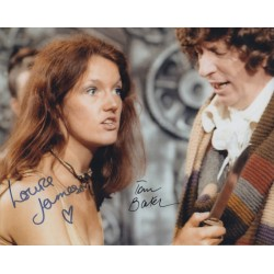 Tom Baker Louise Jameson Doctor Who genuine autograph signed photo