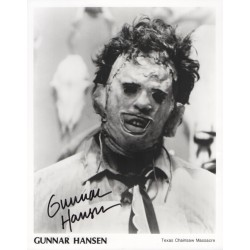 Gunnar Hansen Texas Chainsaw genuine authentic autograph signed photo