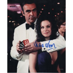 James Bond Lana Wood 2 signed original genuine autograph authentic photo