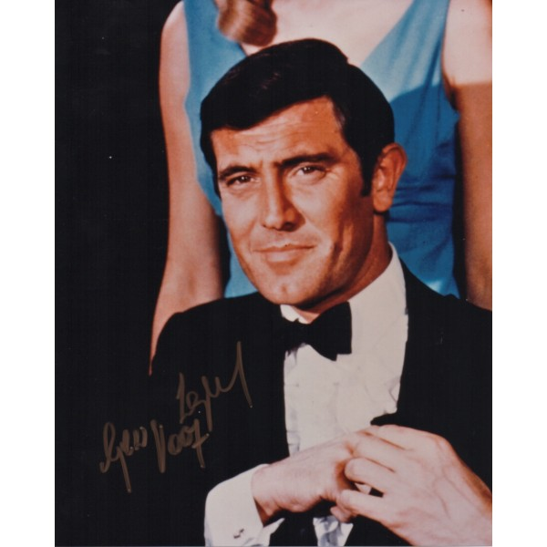 George Lazenby James Bond 007 authentic signed autograph photo