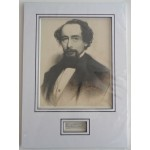 Charles Dickens signed authentic genuine signature autograph display