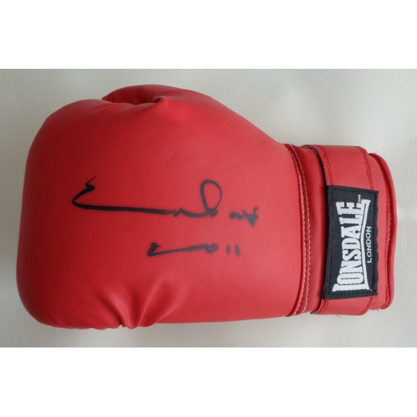 Chris Eubank Boxing signed authentic signature autograph glove COA