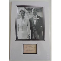 Edward Duke Windsor Wallis Simpson genuine authentic signed autograph display