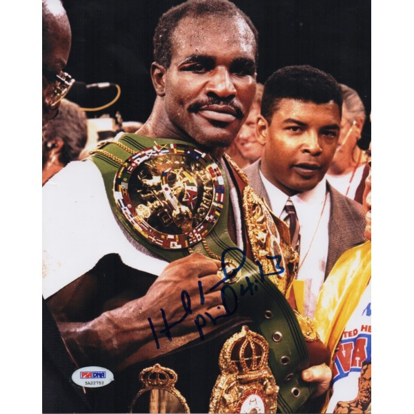 Evander Holyfield Boxing genuine authentic signed autograph photo COA AFTAL