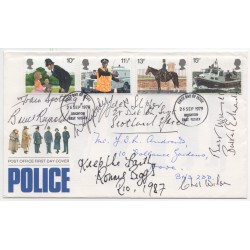 Great Train Robbers Biggs Reynolds etc genuine authentic signed autograph FDC