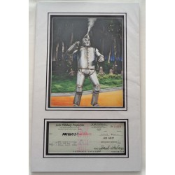 Jack Haley Wizard of Oz genuine authentic signed autograph display.
