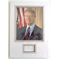 Jimmy Carter US President signed authentic genuine signature autograph display
