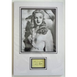 Joan Sims Carry On signed authentic genuine signature autograph display