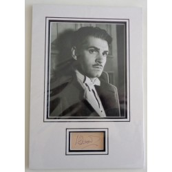 Lawrence Olivier genuine authentic signed autograph display COA AFTAL