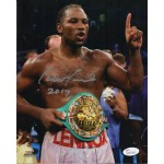 Lennox Lewis Boxing genuine authentic signed autograph photo COA UACC