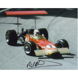 Richard Attwood Lotus 49 F1 authentic signed genuine autograph photo