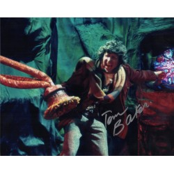 Tom Baker Doctor Who genuine signed authentic signature photo