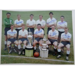 Tottenham Spurs 1961 Cup team genuine authentic autograph signed photo