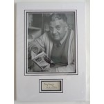 W E Johns Biggles signed authentic genuine signature autograph display